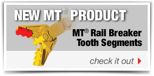 New Product! MT Rail Breaker Tooth Segments